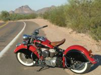 1948 Indian Chief Converted to KIWI electric start,