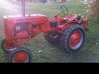 1949 Allis Chalmers B, Was restored four years ago,