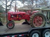 1949 c farmall runs great new battery good tires (one