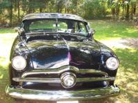 Black Sapphire firemist with light blue interior 1950
