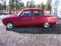 1949, 2 door Ford, 283, 350 auto. This car is 99%