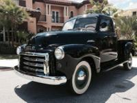 This 1949 GMC is a true Black Beauty! She has received