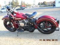 1949 wl Harley Davidson 45ci flat head. My father spent