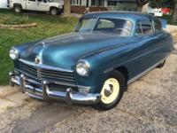 1949 Hudson Straight 6 - 3 Speed Manual Starts, Runs,