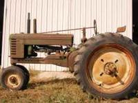 1949 John Deere Model B. Runs strong, always shedded,