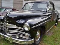 This is a rare edition 1949 Plymouth Business Deluxe 2