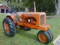 I HAVE A WD ALLIS CHALMERS TRACTOR FOR SALE ! IT HAS