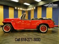 Up for grabs is a nice 1949 Willys Jeepster. This is a