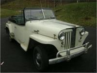 1949 Willys Jeepster, V-6 Buick Engine. Nice car, come