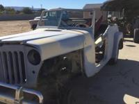 1949 Willys jeepster has a 4 Cylinder Engine, Column