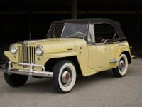1949 WIllys Jeepster Overland. -The car has been kept