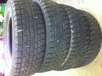 a set of 4 yokohama ice gaurd ig 20 snow tires like new