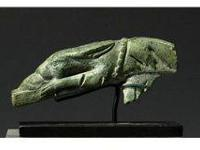 Rome. ca. 2nd century AD. Solid bronze handle shaped