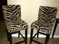 Here is a SET of Counter Height - Tiger Print -