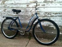 Barn find late 1950s Hiawatha tank bike with rear rack,