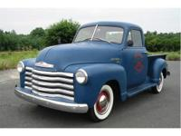 This is a 1950 Chevy 3100 short bed pick up with
