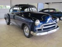 Up for sale is a 50 Chevy Deluxe fastback coupe with