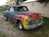 For sale 1950 dodge 2dr wayfair hot rod org.6 cylinder