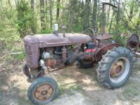 This is a good running 1950 Farmall A Tractor with a 6'