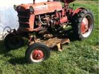 1950 Farmall Cub This is a Demonstrator model Evidenced