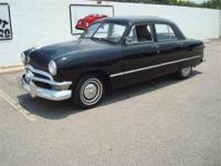 Stk#059 1950 Ford Custom 4 door Hardtop Exterior: Black