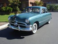 1950 Ford Custom Deluxe 2 Door Flathead V-8 Restored