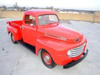 Hello, I'm marketing my 1950 Ford F-1 Short Bed Pickup.