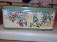 1950 metal G.I. JOE lunchbox. Very rare. A definite