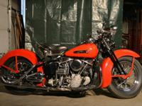 1950 Harley Davidson Panhead with springer front end.