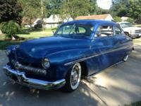 1950 Mercury 2 Door Coupe in a vivid Blue Metallic
