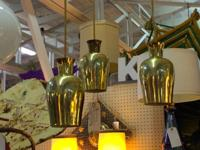 1950's Atomic Brass Light Fixture $225. Mid Century