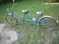 schwinn twinn bicycle built for two. Been in the attic.