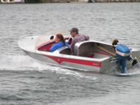 1950's Caddilac runabout aluminum boat built in