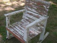 great old wood rocker for child great condition for age