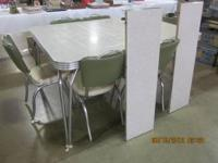 1950 S Chrome Brown Dinette Set For Sale In Dubuque