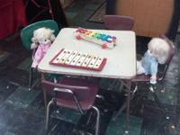 1950's children table $35. the 4 chairs in the picture