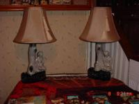 NICE , WELL KEPT SET OF EARLY 1950'S PLANTER LAMPS.