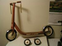 Radio Leaflet Retro Scooter - 1950's Retro red youth