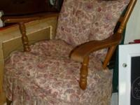 Very Cute 1950's upholstered spring based chair. It's