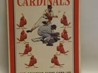 This is a 1950 Souvenir score card for the St.Louis