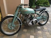 This is a 1950 Vincent  This bike is extremely fast