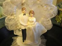 Very pretty wedding cake topper A small piece of the