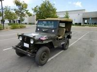 1950 Willy's M38 Jeep. Serial # 309342. Mileage reads