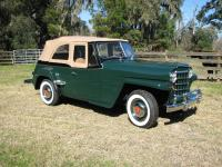 1950 Willys Jeepster Concours Restoration. The car has