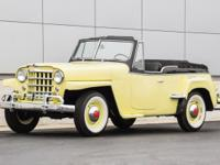 1950 Willys Overland Jeepster Restored.  Nassau Cream