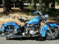 This is a 1950 Harley Davidson Panhead,  model, 74 C.I