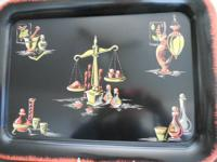 This is a set of virtually new serving/lap trays, all