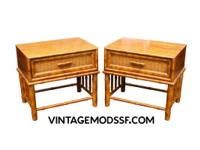 Cool Matching Pair of Bedside Nightstands by American