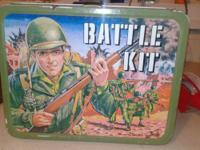 Antique metal 1950 G.I. JOE WAR TIME METAL LUNCHBOX,