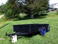 solid steel trailer Inside Box measures 7 foot x 53